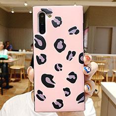 Coque Contour Silicone et Vitre Motif Fantaisie Miroir P01 pour Samsung Galaxy Note 10 Rose