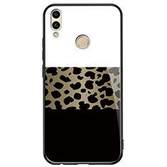 Coque Contour Silicone et Vitre Motif Fantaisie Miroir pour Huawei Honor 8X Noir