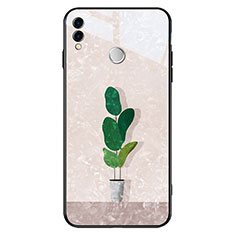 Coque Contour Silicone et Vitre Motif Fantaisie Miroir pour Huawei Honor 8X Vert