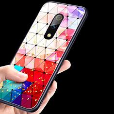 Coque Contour Silicone et Vitre Motif Fantaisie Miroir pour Oppo Realme X Colorful