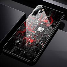 Coque Contour Silicone et Vitre Motif Fantaisie Miroir S01 pour Huawei P30 Pro Mixte