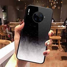 Coque Contour Silicone et Vitre Paillette Etoile Miroir Etui Housse pour Huawei Mate 30 Pro 5G Noir