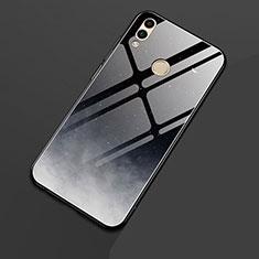 Coque Contour Silicone et Vitre Paillette Etoile Miroir pour Huawei Honor 8X Noir