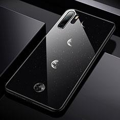 Coque Contour Silicone et Vitre Paillette Etoile Miroir pour Huawei P30 Pro Noir