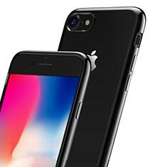 Coque Contour Silicone et Vitre Transparente Mat pour Apple iPhone 7 Noir