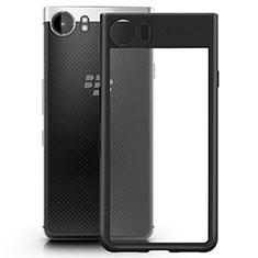 Coque Contour Silicone et Vitre Transparente Mat pour Blackberry KEYone Noir