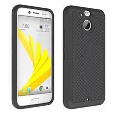Coque Contour Silicone et Vitre Transparente Mat pour HTC Bolt Noir