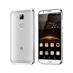 Coque Contour Silicone et Vitre Transparente Mat pour Huawei G7 Plus Argent