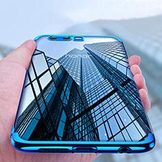 Coque Contour Silicone et Vitre Transparente Mat pour Huawei Honor 9 Premium Bleu