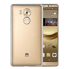 Coque Contour Silicone et Vitre Transparente Mat pour Huawei Mate 8 Argent