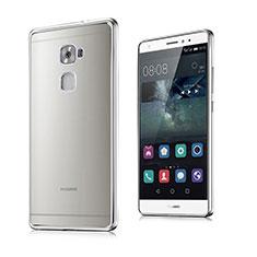 Coque Contour Silicone et Vitre Transparente Mat pour Huawei Mate S Argent