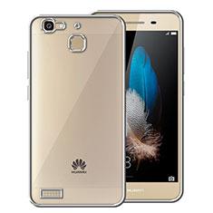 Coque Contour Silicone et Vitre Transparente Mat pour Huawei P8 Lite Smart Argent