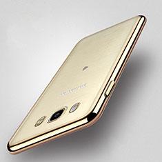 Coque Contour Silicone et Vitre Transparente Mat pour Samsung Galaxy J5 Duos (2016) Or