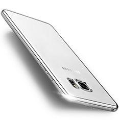 Coque Contour Silicone et Vitre Transparente Mat pour Samsung Galaxy Note 7 Argent