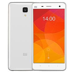 Coque Contour Silicone et Vitre Transparente Mat pour Xiaomi Mi 4 Argent