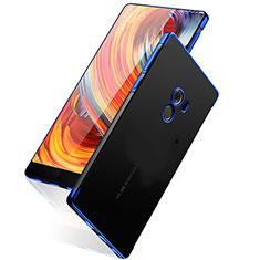 Coque Contour Silicone et Vitre Transparente Mat pour Xiaomi Mi Mix Bleu