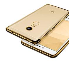 Coque Contour Silicone et Vitre Transparente Mat pour Xiaomi Redmi Note 4 Standard Edition Or