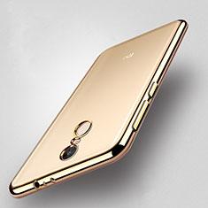 Coque Contour Silicone et Vitre Transparente Mat pour Xiaomi Redmi Note 4X High Edition Or
