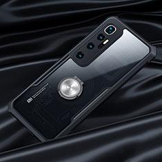 Coque Contour Silicone et Vitre Transparente Miroir 360 Degres avec Support Bague Anneau Aimante Magnetique pour Xiaomi Mi 10 Ultra Noir