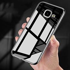 Coque Contour Silicone et Vitre Transparente Miroir 360 Degres pour Samsung Galaxy A9 Pro (2016) SM-A9100 Noir