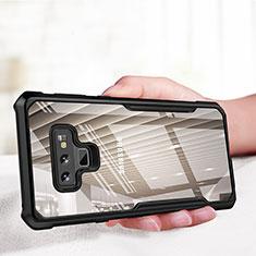 Coque Contour Silicone et Vitre Transparente Miroir 360 Degres pour Samsung Galaxy Note 9 Noir