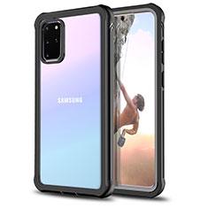 Coque Contour Silicone et Vitre Transparente Miroir 360 Degres pour Samsung Galaxy S20 Plus Noir