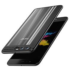 Coque Contour Silicone et Vitre Transparente Miroir 360 Degres T02 pour Huawei Honor 9 Premium Noir