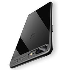 Coque Contour Silicone et Vitre Transparente Miroir 360 Degres T02 pour OnePlus 5 Noir