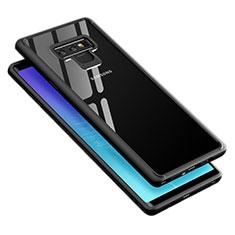 Coque Contour Silicone et Vitre Transparente Miroir 360 Degres T02 pour Samsung Galaxy Note 9 Noir