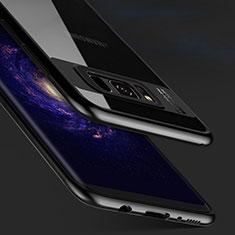 Coque Contour Silicone et Vitre Transparente Miroir 360 Degres T03 pour Samsung Galaxy S8 Noir