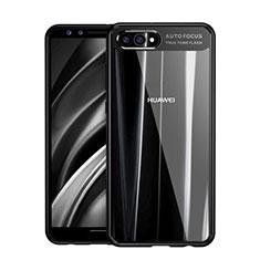 Coque Contour Silicone et Vitre Transparente Miroir F01 pour Huawei Nova 2S Noir