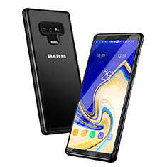 Coque Contour Silicone et Vitre Transparente Miroir pour Samsung Galaxy Note 9 Noir