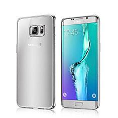 Coque Contour Silicone Transparente Gel pour Samsung Galaxy S6 Edge SM-G925 Argent
