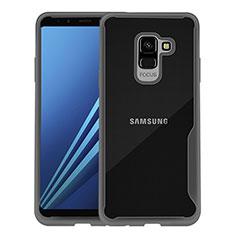 Coque Contour Silicone Transparente pour Samsung Galaxy A8+ A8 Plus (2018) Duos A730F Noir