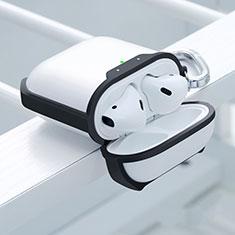 Coque de Protection en Silicone avec Mousqueton pour Boitier de Charge de Airpods C05 Noir