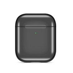 Coque de Protection en Silicone avec Mousqueton pour Boitier de Charge de Airpods C07 Noir
