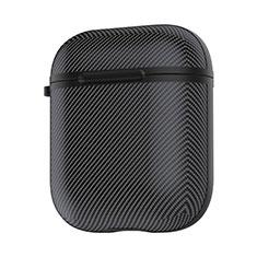 Coque de Protection en Silicone avec Mousqueton pour Boitier de Charge de Airpods C09 Noir