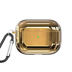 Coque de Protection en Silicone avec Mousqueton pour Boitier de Charge de AirPods Pro C01 Or