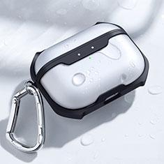 Coque de Protection en Silicone avec Mousqueton pour Boitier de Charge de AirPods Pro C04 Noir