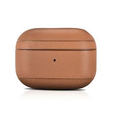 Coque en Cuir pour Boitier de Charge de AirPods Pro pour Apple AirPods Pro Marron