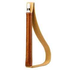 Coque en Cuir Protection Sac Pochette Elastique Douille de Poche Detachable P01 pour Apple Pencil Apple iPad Pro 10.5 Marron