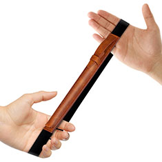 Coque en Cuir Protection Sac Pochette Elastique Douille de Poche Detachable P03 pour Apple Pencil Apple iPad Pro 9.7 Marron