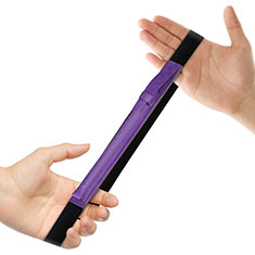 Coque en Cuir Protection Sac Pochette Elastique Douille de Poche Detachable P03 pour Apple Pencil Apple New iPad 9.7 (2018) Violet