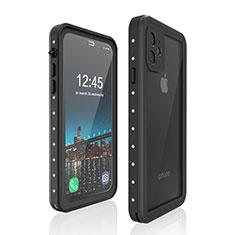 Coque Etanche Contour Silicone et Plastique Housse Etui Waterproof 360 Degres pour Apple iPhone 11 Noir
