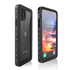 Coque Etanche Contour Silicone et Plastique Housse Etui Waterproof 360 Degres pour Apple iPhone 11 Pro Noir