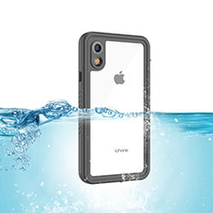 Coque Etanche Contour Silicone et Plastique Housse Etui Waterproof 360 Degres pour Apple iPhone XR Noir