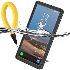 Coque Etanche Contour Silicone et Plastique Housse Etui Waterproof 360 Degres pour Samsung Galaxy Note 10 5G Noir