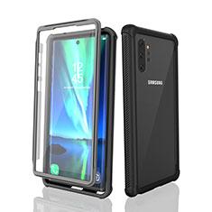 Coque Etanche Contour Silicone et Plastique Housse Etui Waterproof 360 Degres pour Samsung Galaxy Note 10 Plus 5G Noir