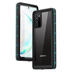 Coque Etanche Contour Silicone et Plastique Housse Etui Waterproof 360 Degres pour Samsung Galaxy Note 20 5G Cyan
