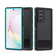Coque Etanche Contour Silicone et Plastique Housse Etui Waterproof 360 Degres pour Samsung Galaxy Note 20 Ultra 5G Cyan
